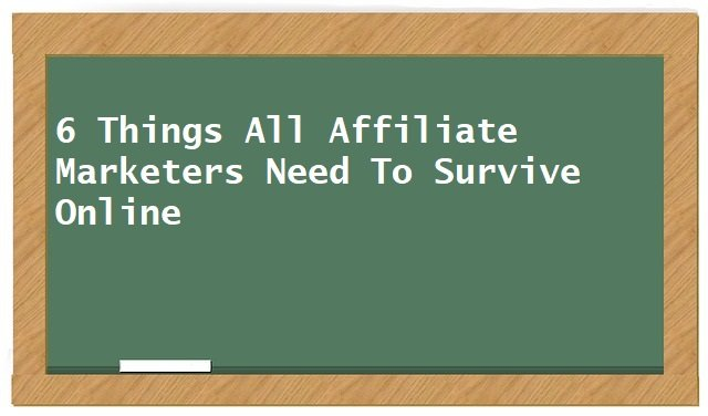 6 Things All Affiliate Marketers Need To Survive Online