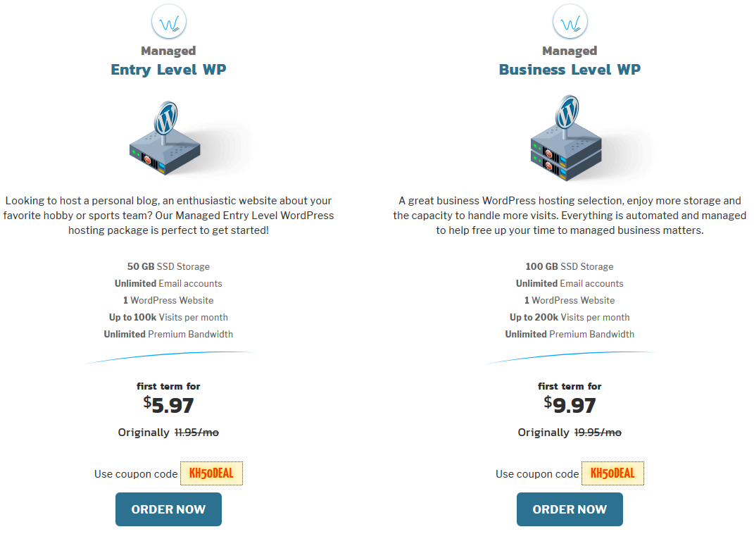 Knownhost WordPress Hosting Plans