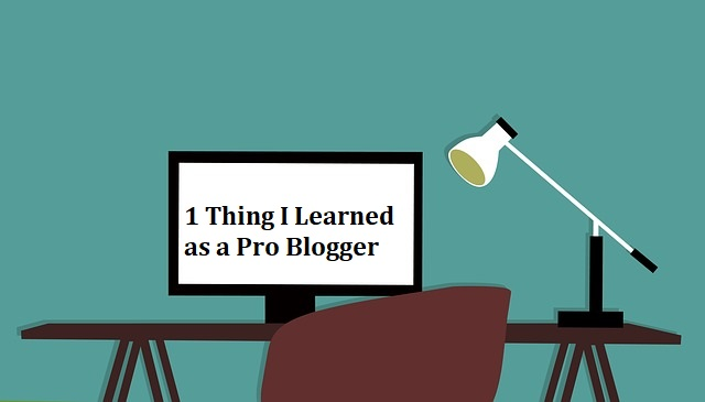 1 Thing I Learned as a Pro Blogger
