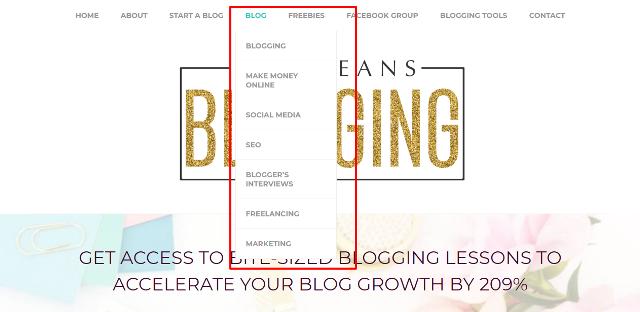 Blog Categories Menu